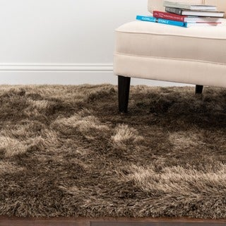 Hand-tufted Evelyn Taupe Shag Rug (9'3 x 13'0)