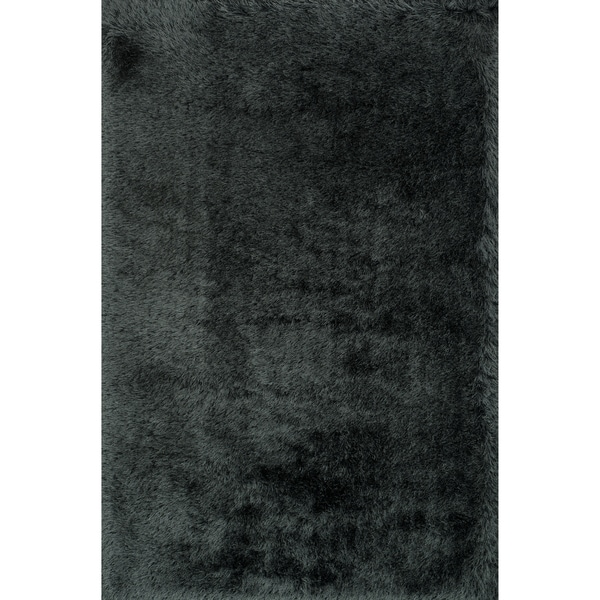 Hand-tufted Evelyn Graphite Shag Rug (7'6 x 9'6)