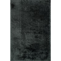 Hand-tufted Solid Graphite Mid-century Shag Rug - 9'3 x 13'