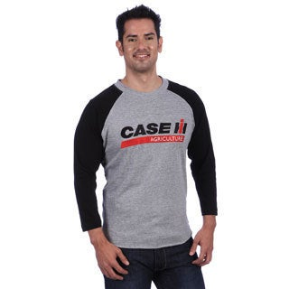 Case IH Men's Grey/ Black Baseball Style Jersey