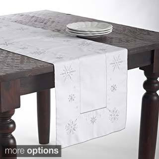 Snowflake Design Tablecloth/ Table Runner