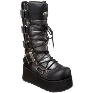Demonia Men's 'Trashville-519' Black Platform Lace-up Boots