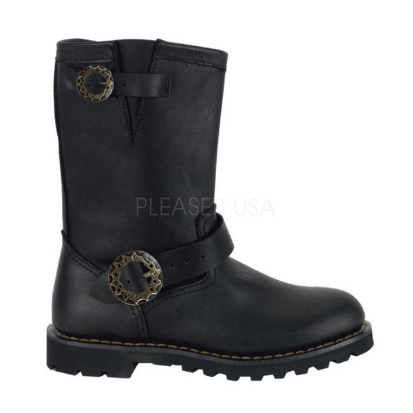 Shop Demonia Men's 'Steam' Leather Mid calf Steampunk Boots