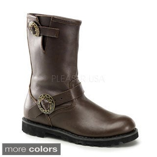 Demonia Men's 'Steam' Leather Mid-calf Steampunk Boots