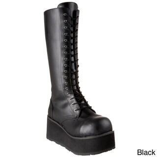 Demonia Men's 'Trashville-502' Black Lace-up Platform Boots