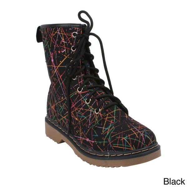 Women's 'YOKI TOPIC-60' Lace Up Ankle Combat Boots