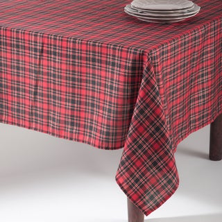 Plaid Design Tablecloth