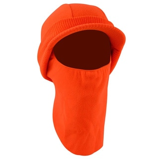 QuietWear Fleece Hunting Hat with Visor and Face Guard