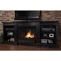 Fresno Black Entertainment Center Gel Fireplace by Real Flame