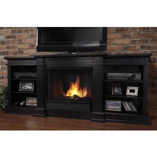 Real Flame Fresno Black Entertainment Center Gel Fireplace