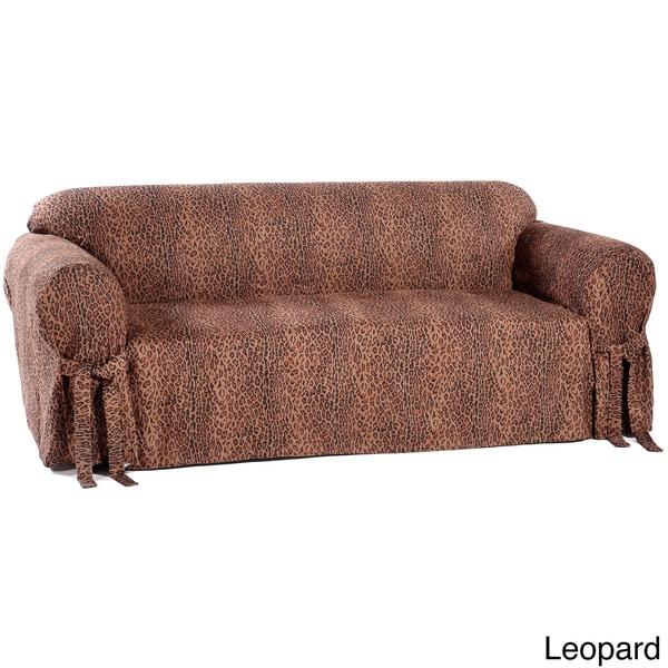 Shop Animal Print Microsuede Sofa Slipcover Free