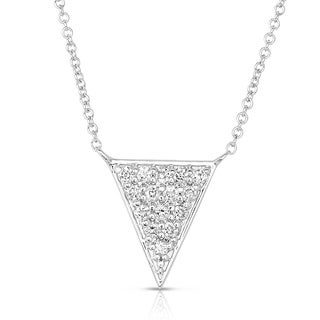 Eloquence 14k White Gold 1/3ct TDW Diamond Art Necklace (H-I, I1-I2)