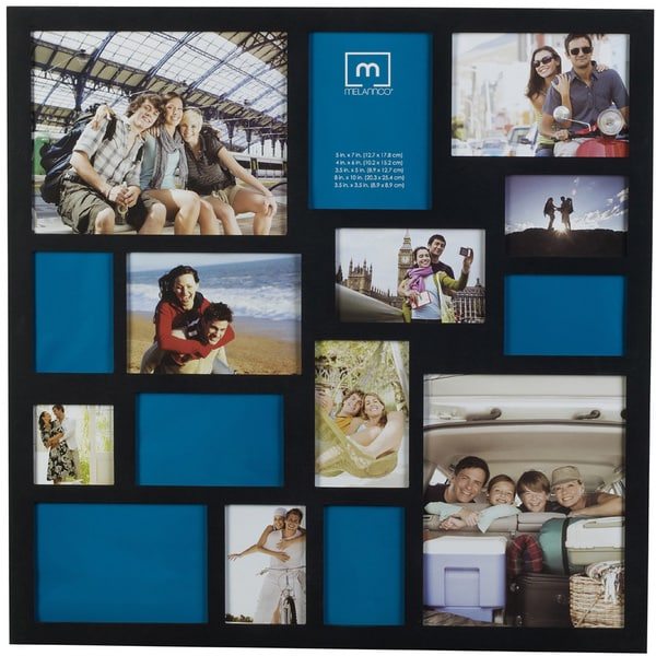 Shop Melannco Black 24 X 24 Inch 15 Opening Collage Frame Free