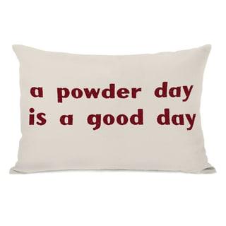 A Powder Day Throw Pillow