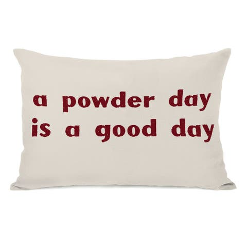 A Powder Day Throw Pillow