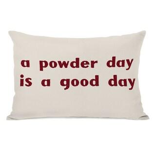A Powder Day Throw Pillow - Oatmeal
