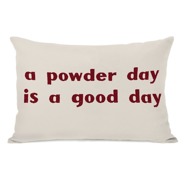 A Powder Day Throw Pillow. Opens flyout.