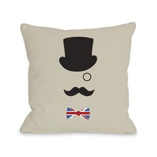 A British Gentleman Throw Pillow