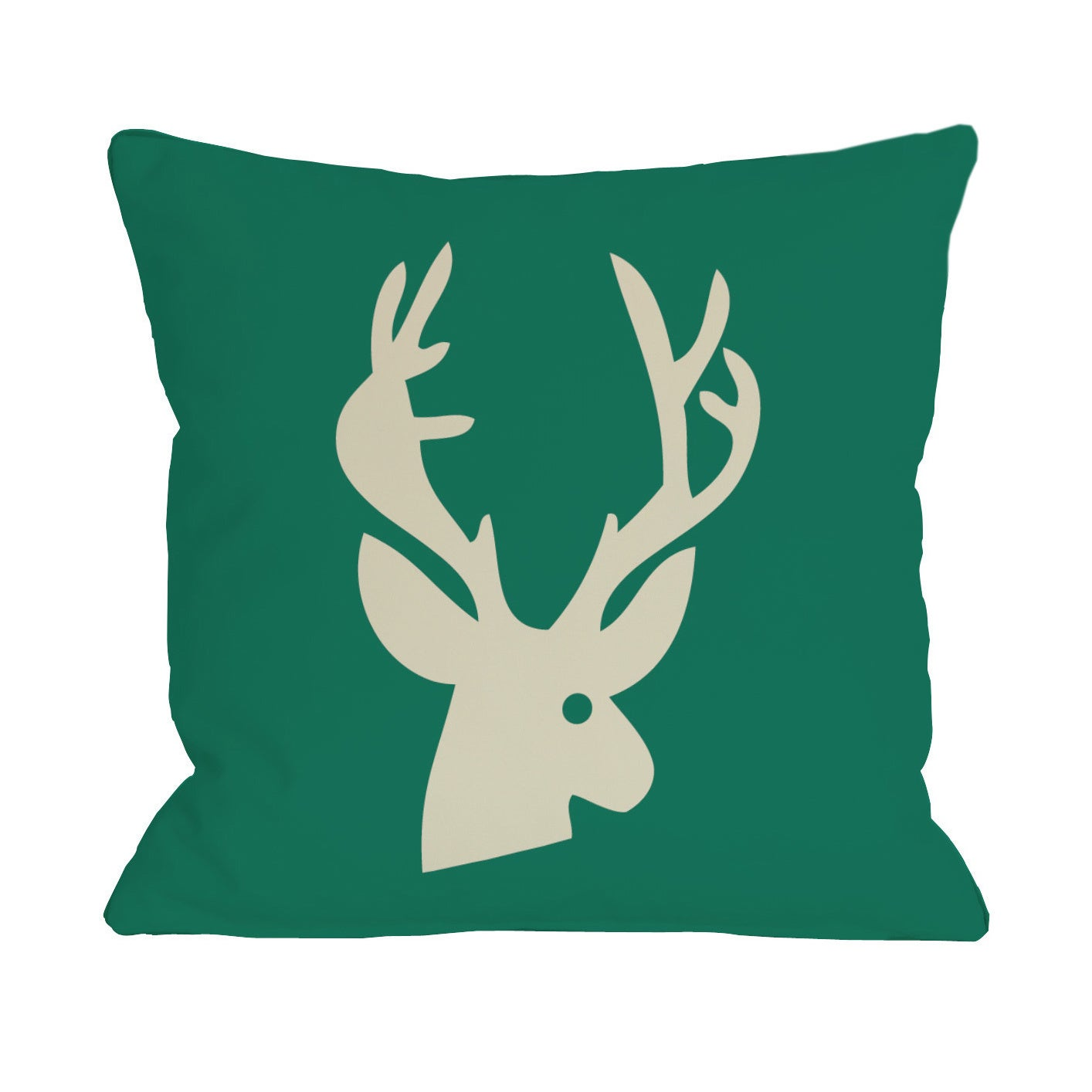 Deer Plaid Throw Pillow (18 x 18 Pillow)