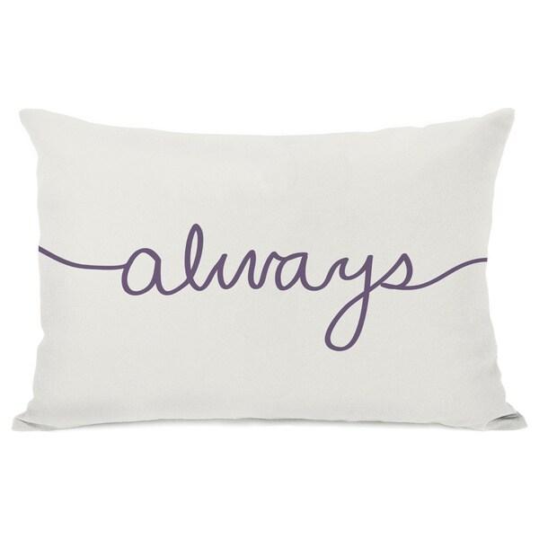 Always Mix and Match Grape Throw Pillow