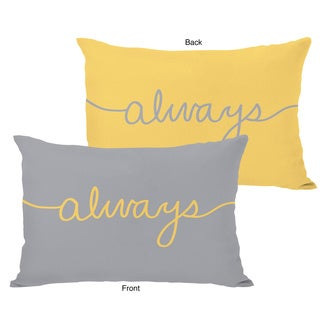 Always Mix and Match Mimosa and Gray Throw Pillow