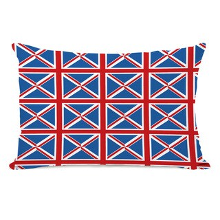 All Over Abstract Union Jack Throw Pillow