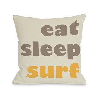 Eat, Sleep, Surf Throw Pillow