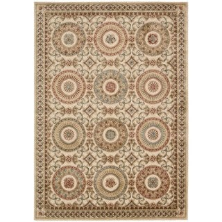 kathy ireland Villa Retreat Euro Century Celestial Elegance Cream Area Rug by Nourison (5'3 x 7'5)