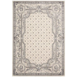 kathy ireland Villa Retreat Euro Century Garden Room Ivory/Grey Area Rug by Nourison (7'9 x 10'10)