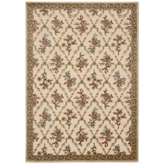 kathy ireland Villa Retreat Americana Wash Estate Cream Area Rug by Nourison (2'3 x 3'9)