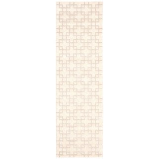 kathy ireland Hollywood Shimmer Architectural Times Square Bisque Area Rug by Nourison (2'3 x 8')