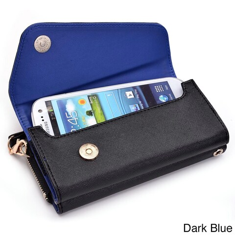 """Kroo Clutch Wallet with Wristlet and Crossbody Strap for 5"""" Smartphone"""