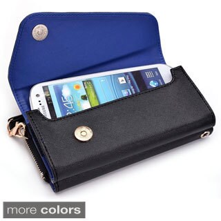 "Kroo Clutch Wallet with Wristlet and Crossbody Strap for 5"" Smartphone (3 options available)"