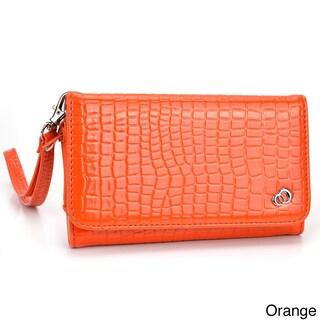 Kroo Diva Clutch Wristlet for Smartphone with Shoulder Strap (Option: Orange)