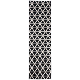 kathy ireland Hollywood Shimmer Architectural Motor Crossing Onyx Area Rug by Nourison (2'3 x 8')