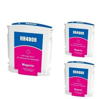 INSTEN HP 940XL Magenta Ink Cartridge (Remanufactured) (Pack of 3)
