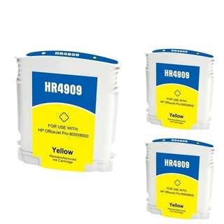 INSTEN HP 940XL Yellow Ink Cartridge (Remanufactured) (Pack of 3)