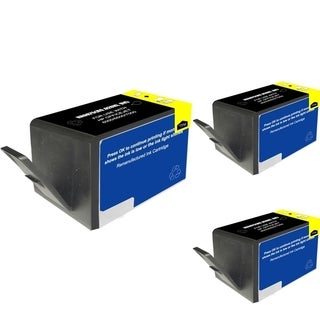 INSTEN HP 920XL Black Ink Cartridge (Remanufactured) (Pack of 3)