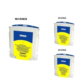 INSTEN HP 11 Yellow Ink Cartridge (Remanufactured) (Pack of 3)