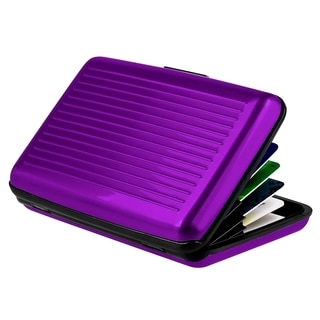 Zodaca Purple Aluminum Business Card Case