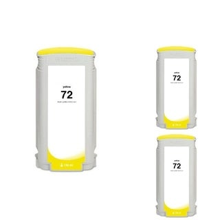 INSTEN HP 72 Yellow Ink Cartridge (Remanufactured) (Pack of 3)