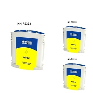 INSTEN HP 88 Yellow Ink Cartridge (Remanufactured) (Pack of 3)