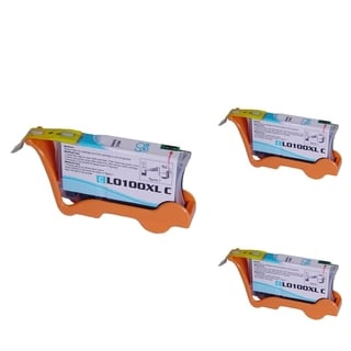 Insten 100XL Cyan Ink Cartridge 14N1069 with New Chip for Lexmark Impact S305/ Interact S605/ Interpret S405/ Prospect Pro205