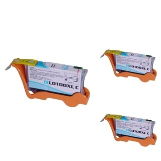 Refilled Insten Cyan Non-OEM Ink Cartridge Replacement for Lexmark