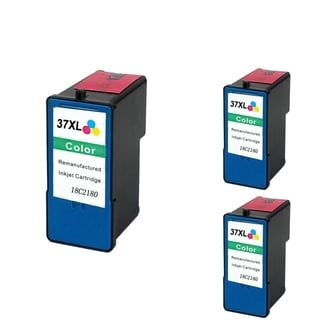 INSTEN Lexmark 37XL Color Ink Cartridge (Remanufactured) (Pack of 3)