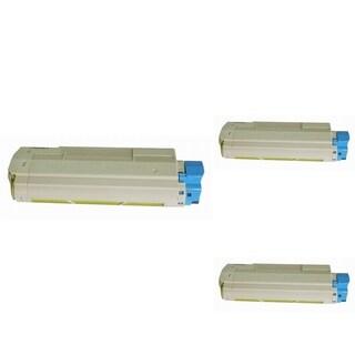 Insten Premium Yellow Color Toner Cartridge 44315301 for OKI C610