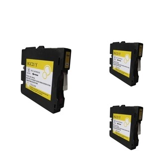 INSTEN Yellow Ink Cartridge Compatible for Ricoh GC21/ GC21H