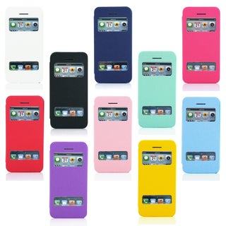 Gearonic PU Leather Flip View Case Smart Back Cover for iPhone 5C