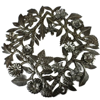 Handmade 15-inch Steel Drum Wreath  , Handmade in Haiti