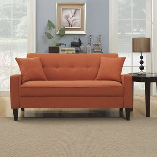 Handy Living Ellie Orange Linen Sofa